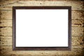 Old picture frame on wood wall Royalty Free Stock Photo