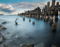 The old pier Prescott, Ontario, Canada Royalty Free Stock Photo