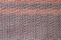 Old pink and blue cotton rug