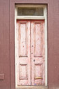 Old pink wooden door Royalty Free Stock Photo