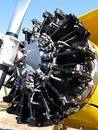 Old plane engine close-up. Stock Photography