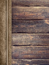 Old planks and handmade paper Royalty Free Stock Photo