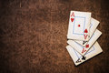 Old playing cards Stock Photo