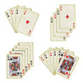 Old playing cards Stock Images