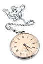 Old pocket watch with chain Stock Photography