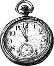 Old pocket watch vector image of the vintage Stock Photography
