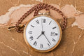 Old pocket watch vintage paper Royalty Free Stock Photos