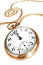 Old pocket watch  on white background Stock Photos
