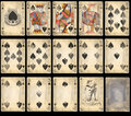 Old Poker Playing Cards - Spades Royalty Free Stock Photo