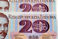 Old Polish money twenty zloty Royalty Free Stock Photo