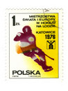 Old polish stamp Royalty Free Stock Photo