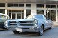 Old Pontiac Bonneville car at the car show Royalty Free Stock Photo