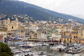 Old port Bastia Corsica St. John Baptist church Stock Photos