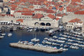 Old port of Dubrovnik Stock Photo