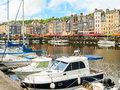 Old port. Honfleur, Normandy, France Royalty Free Stock Photo