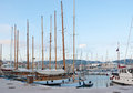The old port luxury yacht moored on in cannes france Royalty Free Stock Image