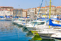 Old port in marseilles france south of Royalty Free Stock Images