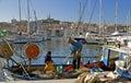 Old Port and Notre Dame de la Garde, Marseille Royalty Free Stock Photo