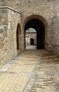 Old portal in civitella sul tronto abruzzo region italy Royalty Free Stock Images