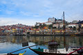 Old porto on douro bank portugal river embankment and Royalty Free Stock Image