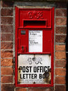 Old post box in england Royalty Free Stock Images