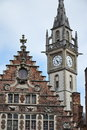 Old Post office tower in Ghent, Belgium Royalty Free Stock Photo