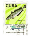 Old postage stamp from Cuba Royalty Free Stock Photo
