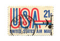 Old postage stamp from USA 21 cent Royalty Free Stock Photo