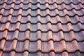 Old potsherd roof texture Stock Photography