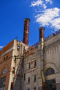Old Power Plant Stacks Royalty Free Stock Photo