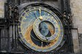 Old prague astronomical clock with apostels very Stock Photo