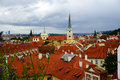 Old prague city panorama of the of Royalty Free Stock Photos