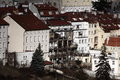 Old Prague tenement-houses Royalty Free Stock Photos