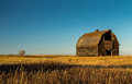 Old Prairie Barn at Sunset Royalty Free Stock Photo