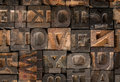 Old Printer Letters Spell out I Love You Royalty Free Stock Photo