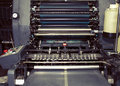 Old printing machine in typography Royalty Free Stock Photo