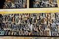 Old Printing Press Letters, Greek Alphabet Royalty Free Stock Photo