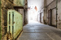 Old prison hallway. Royalty Free Stock Photo