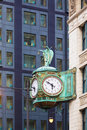 Old public clock in Chicago Royalty Free Stock Photo