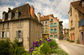 Old quarter architecture, Aubusson, France Stock Photography