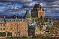 Old quebec hdr historic chateau frontenac Royalty Free Stock Images