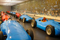 Old racing cars in a showroom in the cité de l automobile national museum it is is located in mulhouse france and houses the Stock Photo