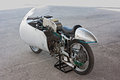 Old racing motorcycle Moto Guzzi Royalty Free Stock Photography