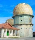Old radar station. Portugal Royalty Free Stock Photo