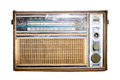 Old radio, Antique brown radio Royalty Free Stock Photo