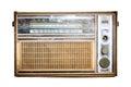 Old radio, Antique brown radio Royalty Free Stock Photo