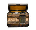 Old radio, front view Royalty Free Stock Photo