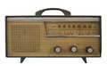 Old radio isolate on white Stock Images