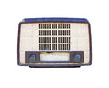 Old radio isolated Stock Photos