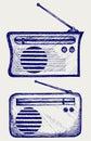 Old radio receiver Royalty Free Stock Photo